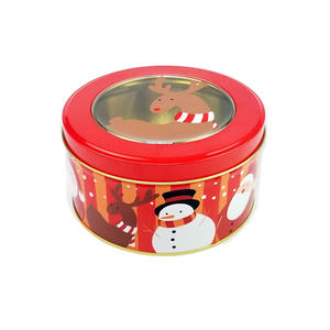 China high quality cookie tin can with window  manufacturer