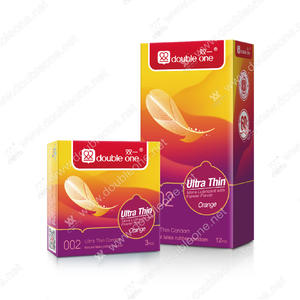 wholesale Natural Latex Ultra Thin Orange Condom manufacturers factory