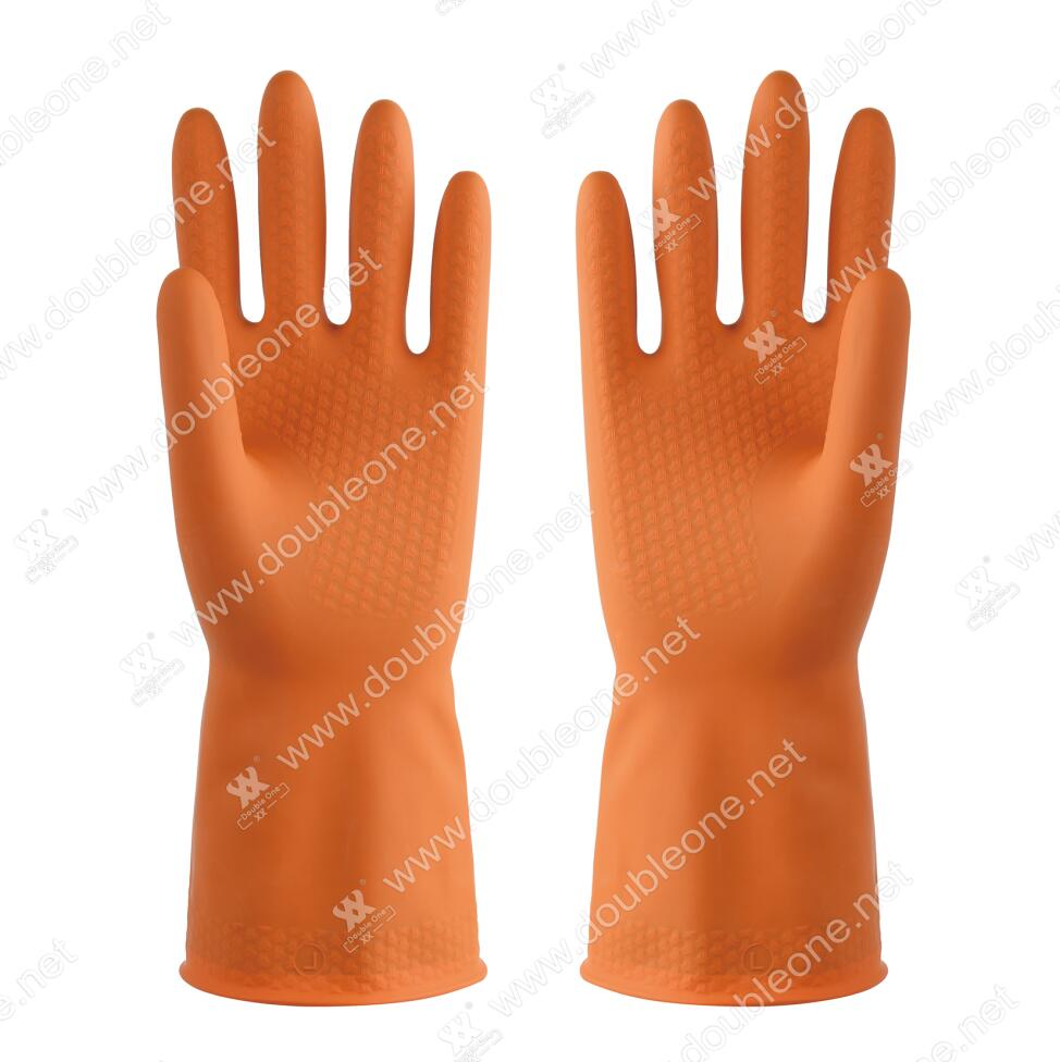 Double color industrial gloves