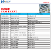 ISUZU CAM SHAFT
