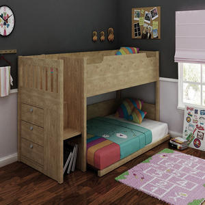 customized fashion wood child bunk beds price