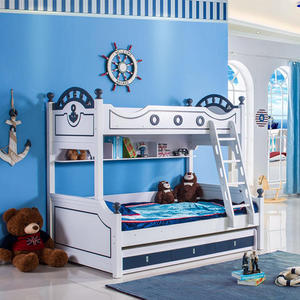 Home Furniture Bunk Wooden Bed For Children Modern Bedroom Sets