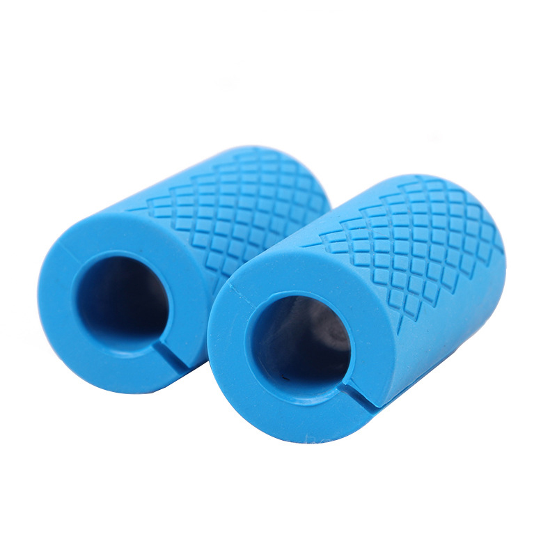 ODM customized Logo rubber dumbbell sets