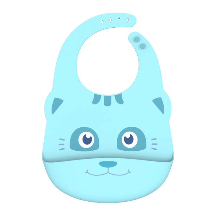OEM waterproof soft silicone bibs for baby healthier and safer