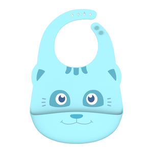 OEM waterproof soft silicone bibs for baby healthier and safer manufacturing