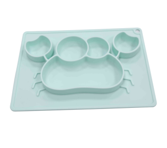 Wholesale OEM silicone baby plate promotes self-feeding