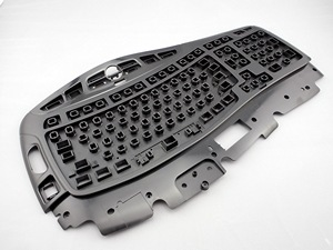Keyboard injection molded parts