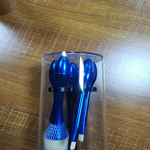 makeup brush case plastic injection mold and product