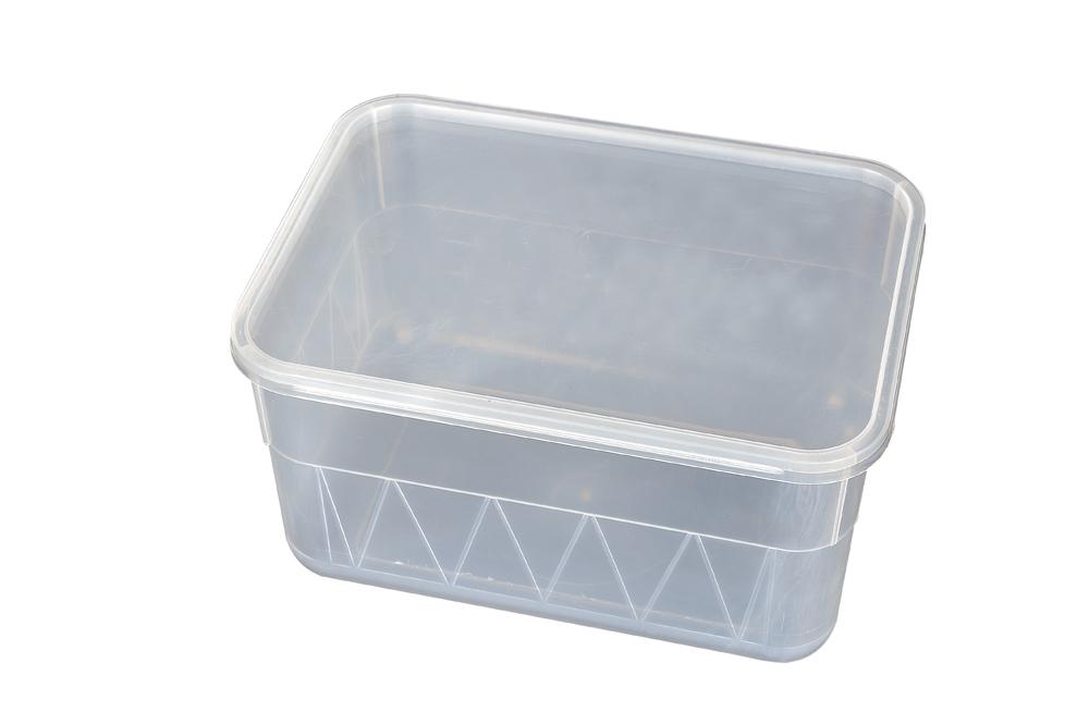 Fiambrera plástica, caja plástica de comida rápida