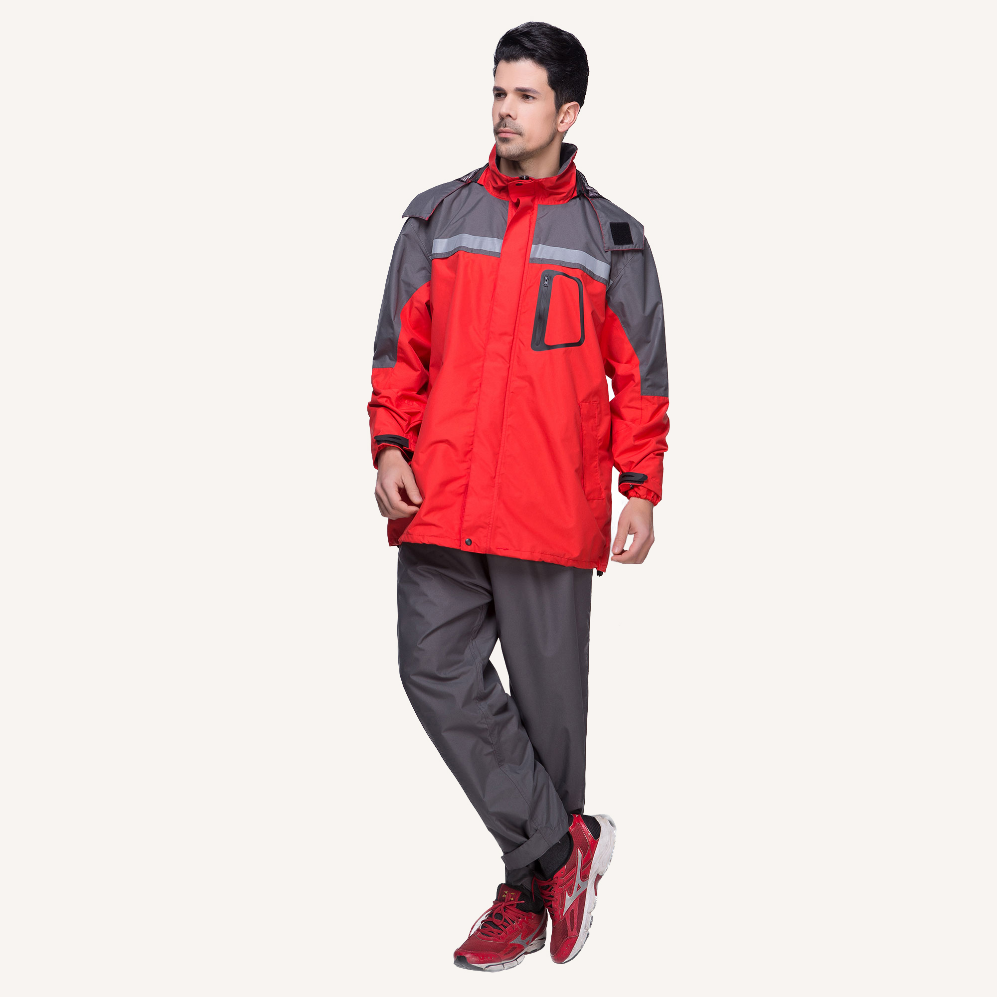 6850 Multi-color Sportanzug Wasserdichte Regenjacke
