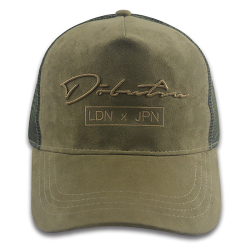 5 Panel Camurça Trucker Hat Bordado Logotipo Personalizado