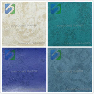 High end PVC leatherette paper gift box in colorful paper/PVC packing Paper