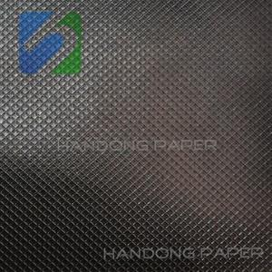 Single Color Leather Embossed PVC Coat Paper/Pearl Color PVC Coated Paper