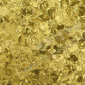 PVC Bright Gold Rose Pattern Leather Paper