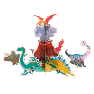 Dinosaur Original Design 3D Jigsaw Puzzles DIY Toy For Kids