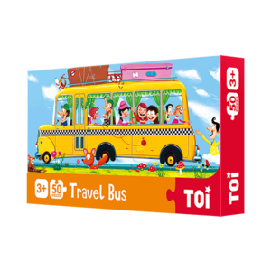 Bus 50Pcs Classic Paper Puzzle Educational Jigsaw Puzzles For Kids