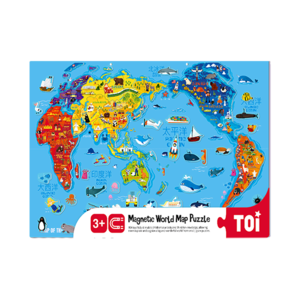 TOI Magnetic World Map Puzzle Wooden Educational Puzzle For Kids