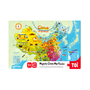 TOI  Magnetic China Map Puzzle Wooden Puzzles For Children Aged 3+