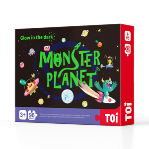 TOI Glow-In-The-Dark Puzzle - Monster Planet  Educational Toy For Kids