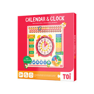 TOI Clock Series Burano Calendar & Clock Wooden Educational Toys For Kids