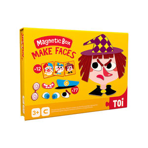 TOI Magnetic Puzzle Book Make Face  Educational Toy Jigsaw Puzzles For Children Aged 3+