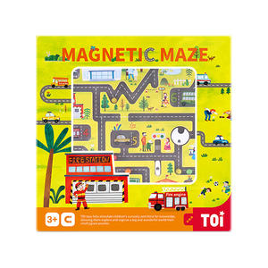 TOI Board Game Magnetic Maze Game Farm Tree Wooden Educational Toy For Kids