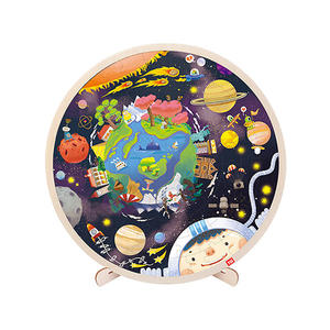 TOI Classic Puzzle Solar System 102pcs Wooden Jigsaw Puzzle With Storage Tray Educational Toy For Kids