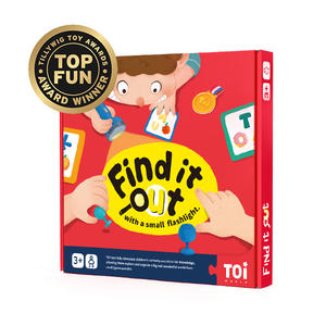 TOI New Arrival Board Game Find It Out With A Small Flashlight Educational Game For Kids