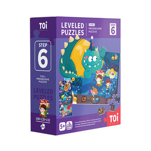 TOI Leveled Puzzles Educational Toy Jigsaw Puzzles For Children Aged 3+