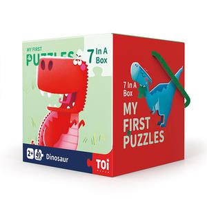 TOI Early Education Series Dinosaur Educational Toy Paper Jigsaw Puzzles For Kids