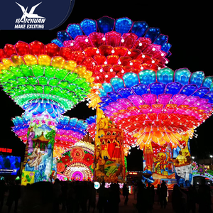 Party Decoration Chinese New Year Lanterns Show Customized LED Lights
