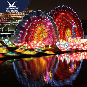 Led Handmade Chinese Lantern Show With Modern Materials