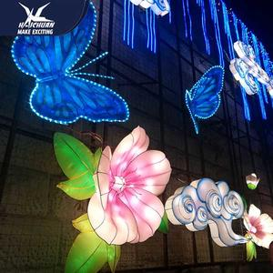 Decorative Led Chinese Silk Paper Festival Lanterns Show Light