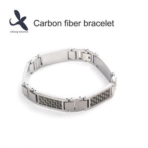 High quality Custom OEM Carbon fiber bracelet  manufacturer