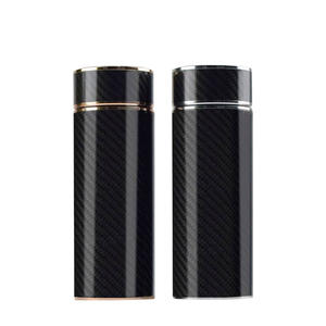 Custom OEM Carbon fiber vacuum thermos bottle  manufacturer factory