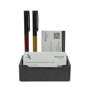 High quality Custom OEM  Carbon fiber business card display holder  manufacturer