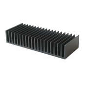 Custom Precision  Anodized black Heat Sinks