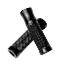 OEM custom design black anodized aluminum hand grips for motorcycle spare parts