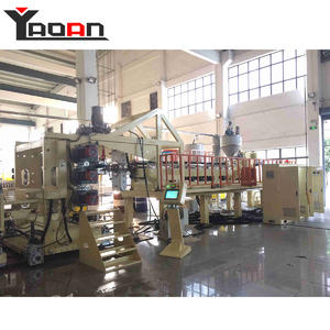 China PP PE thick sheet extruder production line for construction formwork board
