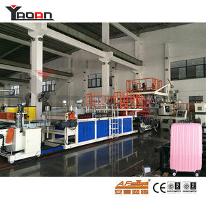 Two three layers PC ABS sheet machine for making suitcases/cabin bags/luggages manufacturers