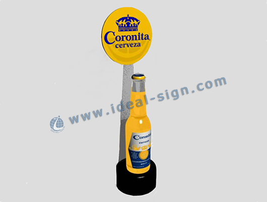 beer bottle display