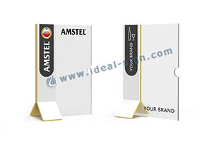 acrylic T shape menu stands