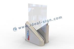 Menu Display with napkin holder