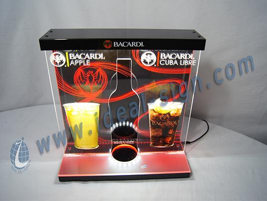Factory Price BACARDI LED Liquor Bottle Display