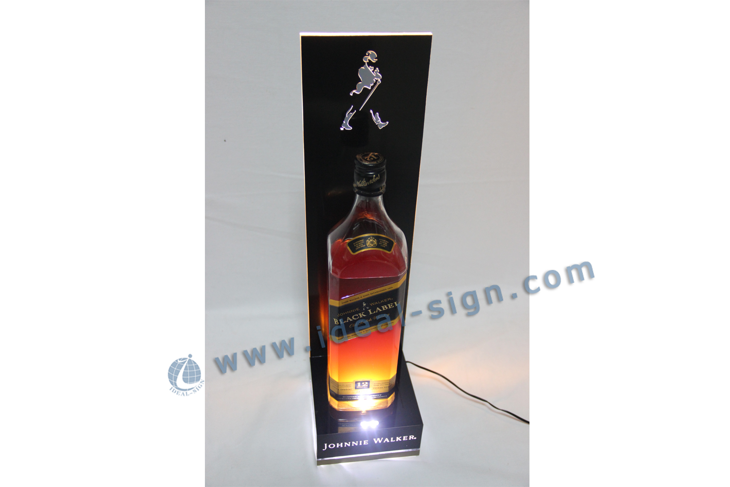 JOHNNIE WALKER LED acrylic bottle display