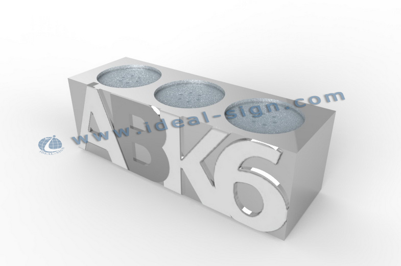ABK6 illuminated Silver Acrylic Encraved Logo Bottle Stand