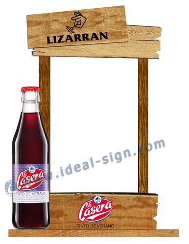 wood Table Stand Menu