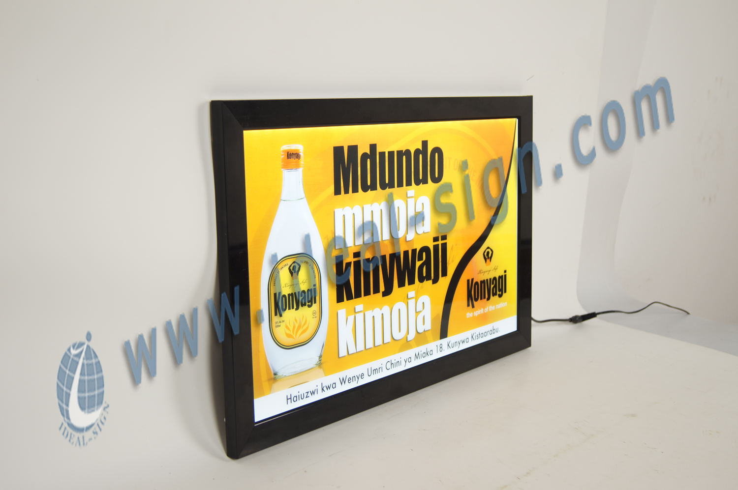 Poster Framed Slim LED light Signs for display
