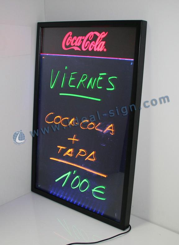 Coca Cola Illuminated blackboard