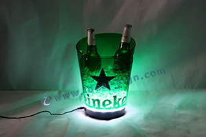 custom heineken lighted ice tub